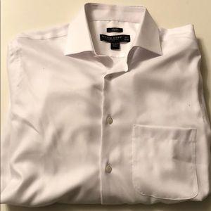 Men's Warehouse Pronto Uomo White Dress Shirt Slim